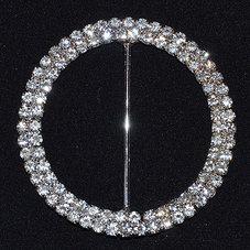 RUNT dubbelrad crystal/silver 5 cm