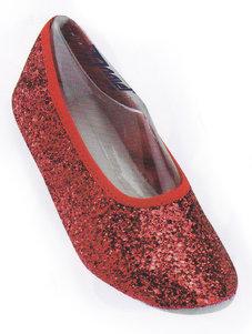DANSSKO - röd glitter