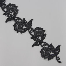 SPETSBLOMBAND - svart, 180 cm