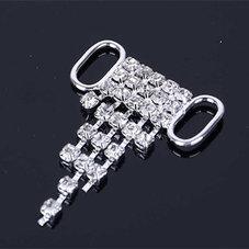 "Bikini-BH Connector ""hänge"" Crystal/silver"