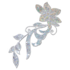SPARKLING FLOWER - silver