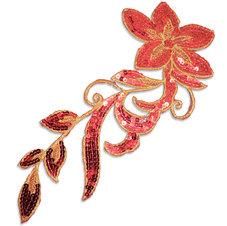 SPARKLING FLOWER - röd