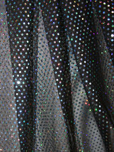 PALJETTMESH - svart/ljusblå