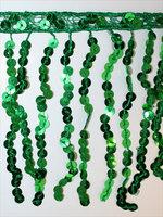 PALJETTFRANS - grön/metallic 15 cm