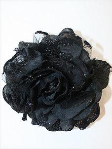 GLITTERROS - svart