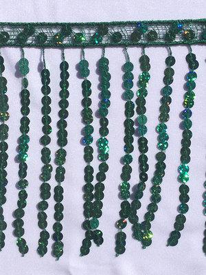 PALJETTFRANS - grön 15 cm