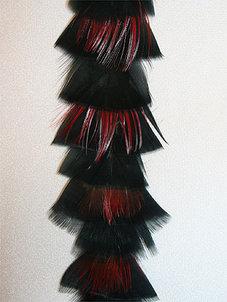 FJÄDERBAND - svart/röd/brun