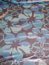 METALLICMESH blåblommor/silver