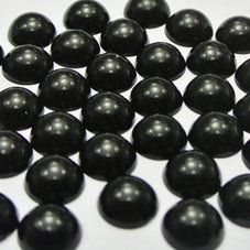 HALVPÄRLA - svart 6 mm