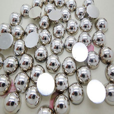 HALVPÄRLA - silver 10 mm