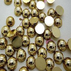HALVPÄRLA - guld 6 mm