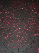 GLITTERROSOR svart/röd