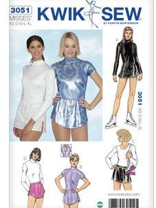 Konståkningsbody & kjol XS-XL