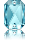 3252 EMERALD CUT Aquamarine 20x14 mm