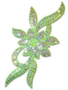 PALJETTBLOMMA - grön