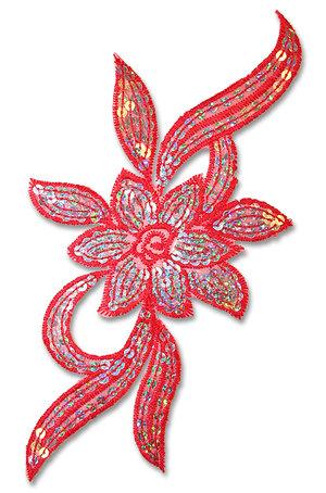PALJETTBLOMMA - röd