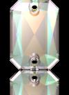 3252 EMERALD CUT Crystal AB 14x10 mm
