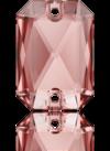 3252 EMERALD CUT Vintage Rose 20x14 mm