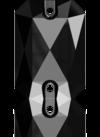 3252 EMERALD CUT Jet 20x14 mm