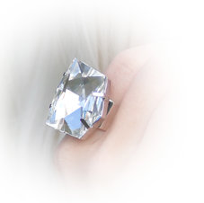 DIAMOND - Crystal  /ring 27 mm