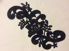 SPETSBLOMMA - svart