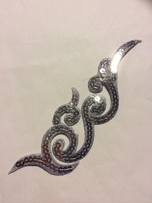 PALJETTORNAMENT - silver