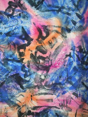 ART blå/rosa/orange