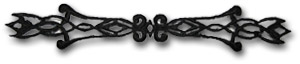 Ornament avlångt - svart