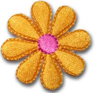 Liten blomma - gul