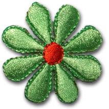 Liten blomma - grön