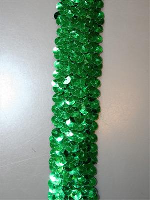 PALJETTBAND - grönt 3 cm