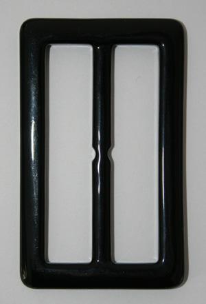 PLASTSPÄNNE -svart  4,8 x 8 cm