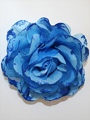 GLITTERROS - blå