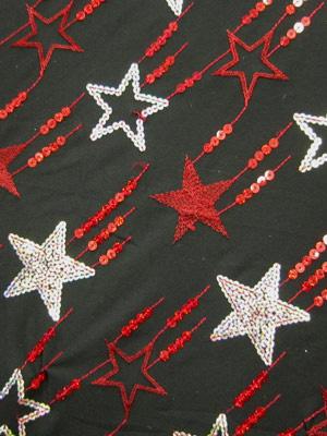 PALJETTSTARS -svart/röd/silver