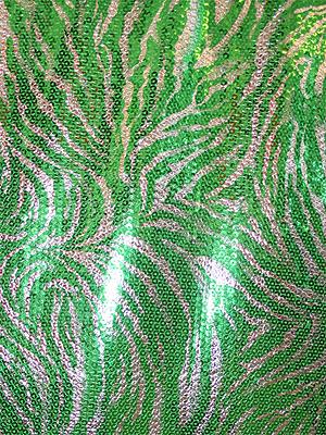 PALJETTIGER - grön/silver