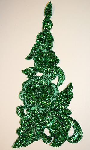 BLOMRANKA  - grön, 30x13 cm