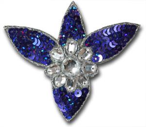 Blomma med stenar - lila